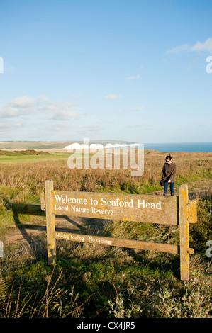 Seaford, Ostsussex, Großbritannien - Stockfoto