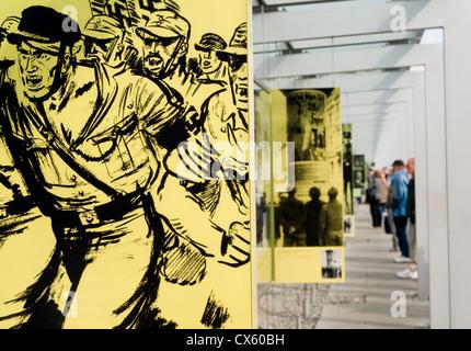 Das Freilichtmuseum der Topographie des Terrors in Berlin, Deutschland, die die Geschichte der Repression unter - Stockfoto