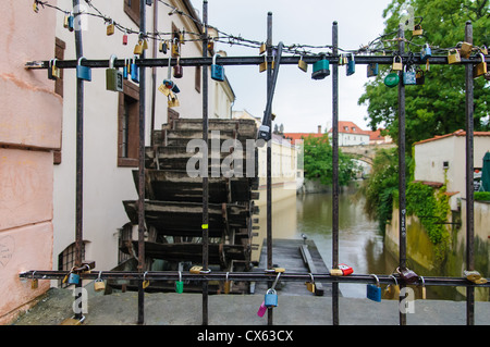 Wasser Mühle, Kampa, Mala Strana, kleine Stadtplatz, Prag, Tschechische Republik - Stockfoto
