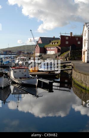 Hafen und die Halbinsel Tinganes Tórshavn, Färöer Inseln - Stockfoto