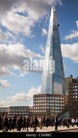 Blick auf den Shard London Bridge, England, Vereinigtes Königreich, Europa - Stockfoto