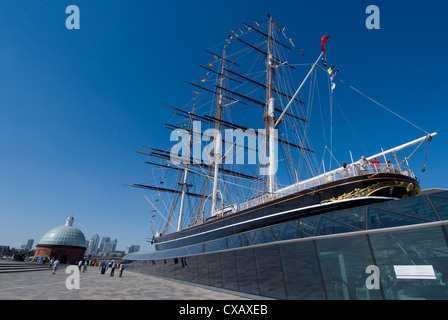 Die renovierte Cutty Sark Tea Clipper, Greenwich, London, England, Vereinigtes Königreich, Europa - Stockfoto