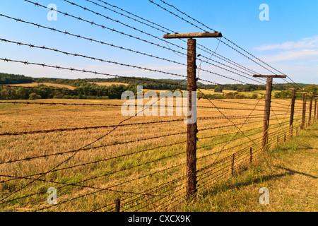 Reste des Eisernen Vorhangs in der Nähe der Grenze zu Tschechien und Österreich. Eiserne Vorhang Europa in den Jahren - Stockfoto