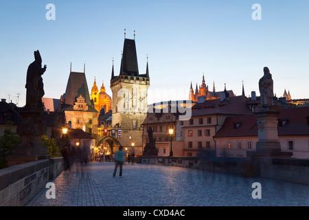 Karlsbrücke, UNESCO-Weltkulturerbe, Prag, Tschechische Republik, Europa
