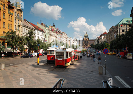 Wenzelsplatz, Prag, Tschechische Republik, Europa