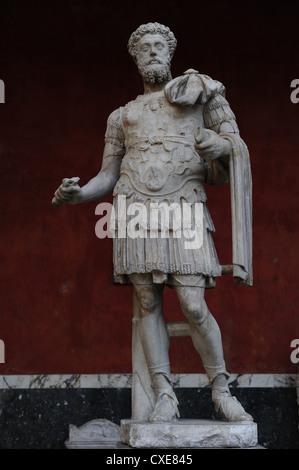 Marc Aurel (121-180). Römischer Kaiser von 161 bis 180. Dynastie Antonine. Ny Carlsberg Glyptotek. Dänemark. - Stockfoto