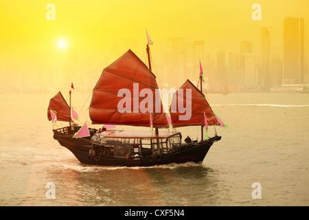 Hong Kong traditionellen Segelboot - Stockfoto