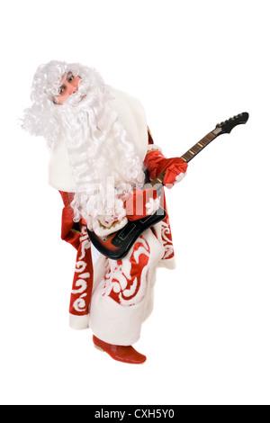 Ded Moroz auf defekte Gitarre spielt verrückt - Stockfoto
