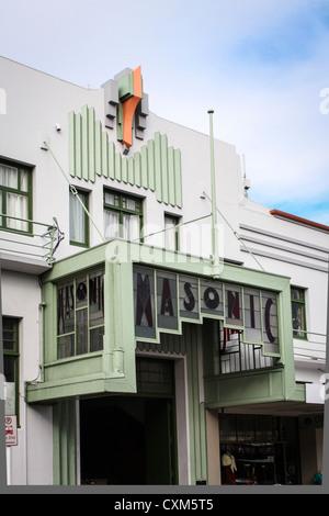 Art-Deco-Architektur Napier, Neuseeland - Stockfoto