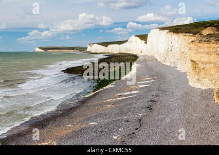 Birling Gap und die sieben Schwestern, East Sussex England UK - Stockfoto
