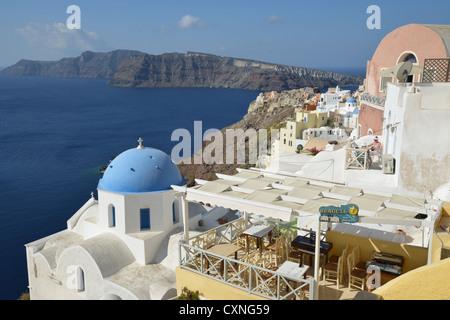 Oia, Santorin, Kykladen, Region südliche Ägäis, Griechenland - Stockfoto