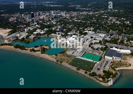 Luftaufnahme Northwestern University, Evanston, Illinois - Stockfoto