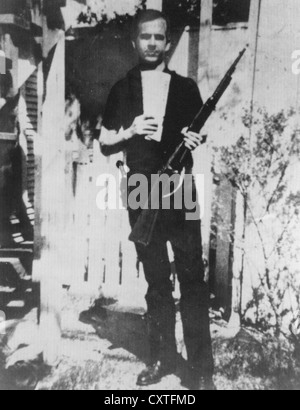 LEE HARVEY OSWALD (1939-1963) ermordet im November 1963 Präsident John F. Kennedy in Dallas. Siehe Beschreibung - Stockfoto
