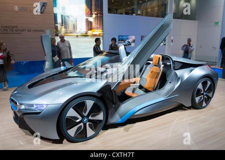 BMW i8 elektrische Prototyp auf der Paris Motor Show 2012 - Stockfoto