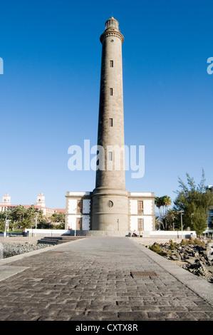 Leuchtturm El Faro Maspalomas de Gran Canaria Kanarische Inseln Inseln Spanisch - Stockfoto