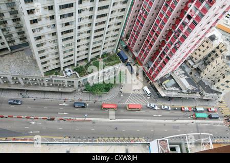 Gebäude für live in Hong Kong - Stockfoto