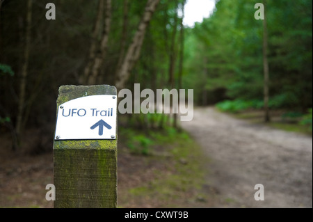 Der UFO-Pfad im Rendlesham Forest, Suffolk, England, UK - Stockfoto