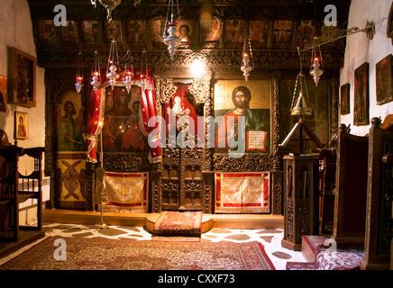 Incide Kirche der Panagia Mauriotissa Kastoria Mazedonien Griechenland - Stockfoto