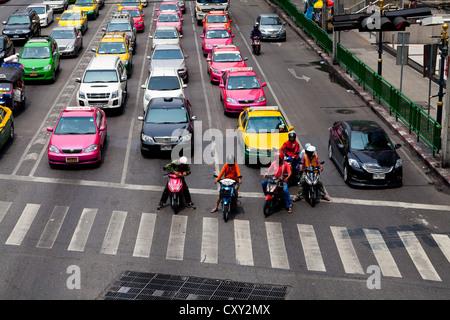Starkem Verkehr in Bangkok, Thailand - Stockfoto