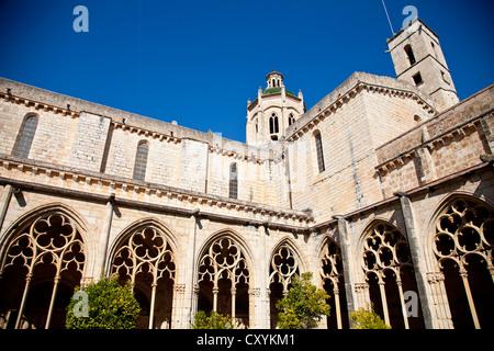 Santes Creus Kloster, Teil der Zisterzienser-Route in Tarragona, Katalonien, Spanien, Europa - Stockfoto