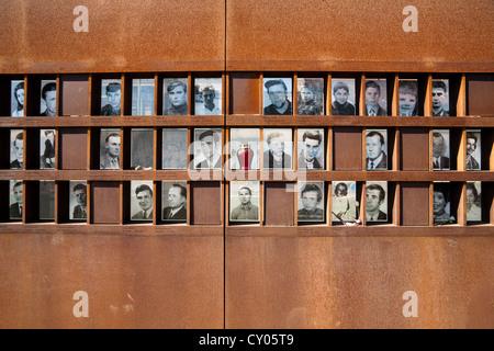 Bilder von Opfern von Mauer, Gedenkstätte Berliner Mauer, Bernauer Straße Straße Mitte Viertel, Berlin - Stockfoto