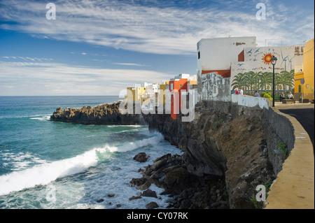 Punta Brava, Puerto De La Cruz, Teneriffa, Kanarische Inseln, Spanien, Europa - Stockfoto