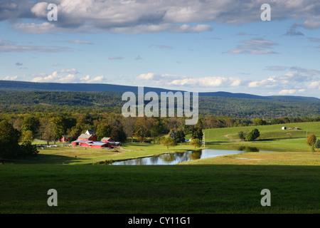 Bauernhof und Ackerland am Fairview Hill Road Fredon County Sussex County New Jersey USA - Stockfoto