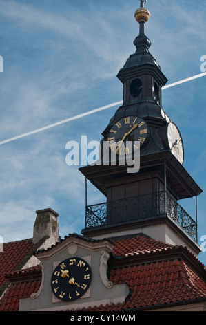 Die Maisel-Hebräisch-Uhr in Prag, Tschechische Republik - Stockfoto