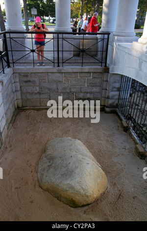 Massachusetts Plymouth Plymouth Bay Pilger Memorial State Park Plymouth Rock 1620 Landung historisches Ereignis - Stockfoto