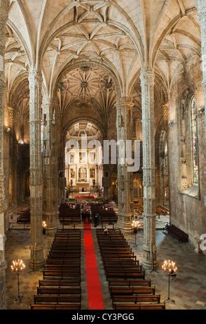 Kirche von Santa Maria, Mosteiro Dos Jéronimos, Lissabon, Portugal - Stockfoto