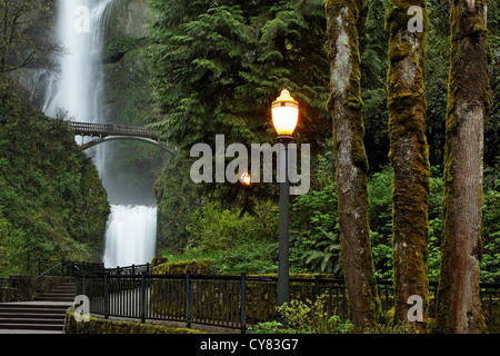 Multnomah Falls, Columbia River Gorge National Scenic Area, Oregon, USA - Stockfoto