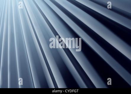 Glänzende Metall Radial Hintergrund gemacht von malte gebogene Aluminium Stahlblech nachschlagen als Gestaltungselement - Stockfoto