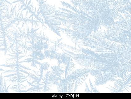 Iceflower Zuckerguss auf ein Fenster in weiche Pastelle - Stockfoto