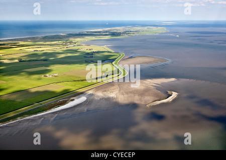 Den Niederlanden, Insel Ameland, Zugehörigkeit, Wadden Sea Islands. UNESCO-Weltkulturerbe. Luft. - Stockfoto