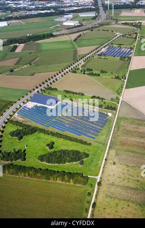 Luftaufnahme Von Sonnenkollektoren Erneuerbare Energien