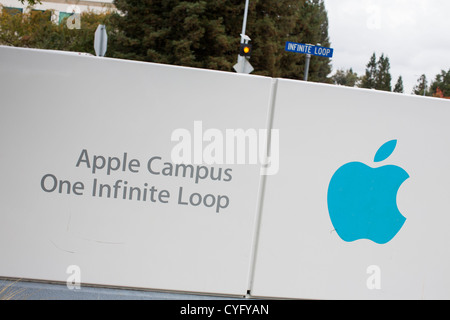Der Hauptsitz von Apple Computer, 1 Infinite Loop. - Stockfoto