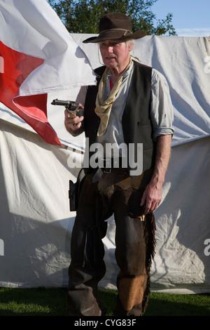 Der wilde Westen kommt Ramsbottom_The Lonestar Cowboys Western Reenactment Verein, Veranstaltung im Oktober 2012 - Stockfoto