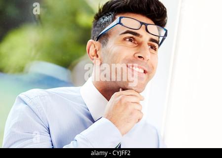 Mann denkt - Stockfoto
