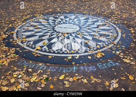 Central Park-Denkmal für John Lennon - Stockfoto