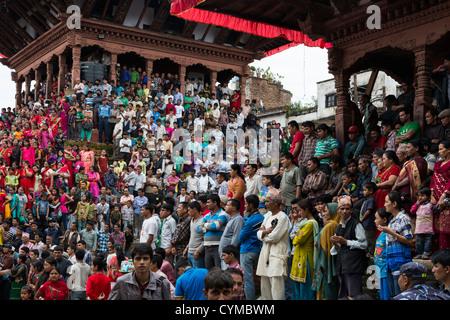 Teej Festival 2012 feierte am Durbar Square in Kathmandu, Nepal - Stockfoto