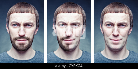 Bühne das Gesicht zu rasieren. Fotokonzept - Stockfoto