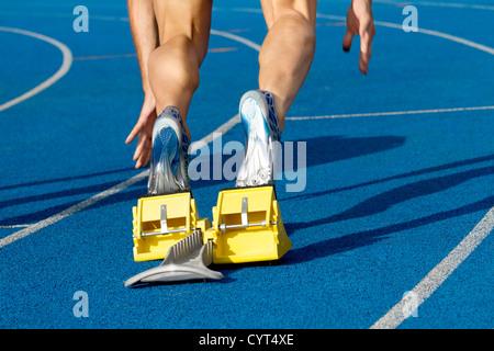Sprinter startet das Rennen - Stockfoto