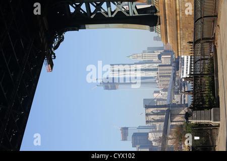 Dumbo, ein Akronym für Down Under the Manhattan Bridge Overpass Viertel im New Yorker Stadtteil Brooklyn - Stockfoto