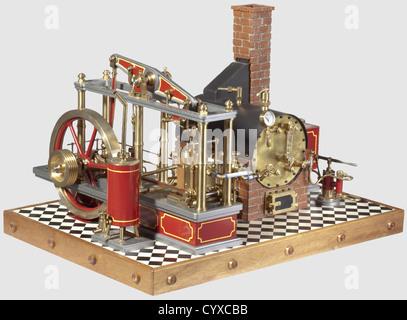 Eine ungewöhnliche Kessel und Strahl Motor stationäre Dampf-Set ...