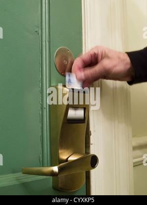 Hotel Zimmer Tür Key-Card - Stockfoto
