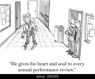 """""""Er gibt sein Herz und seine Seele jeder jährlichen Leistungsbeurteilung."""" - Stockfoto"""