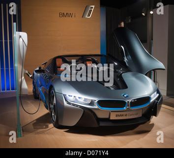 BMW zeigt seine elektrische Konzeptautos an einer Promotion geboren Electric Tour in New York - Stockfoto