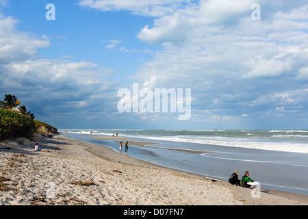 Strand in Jupiter, Treasure Coast, Florida, USA - Stockfoto