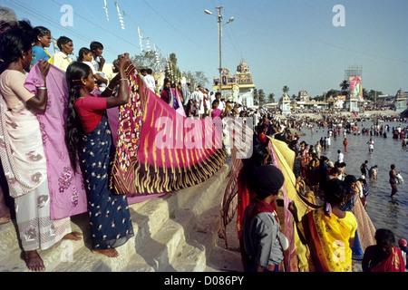 Mahamaham ist ein Hindu-Festival, das alle 12 Jahre in Kumbakonam, Tamil Nadu, Indien gefeiert wird. - Stockfoto