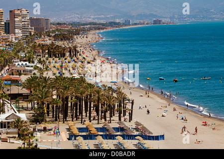 Bajondillo Strand Torremolinos Malaga Costa del Sol Andalusia Spanien - Stockfoto